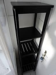 ikea badezimmer regal hemnes schwarzbraun