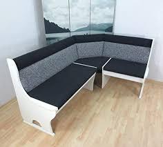 truheneckbank teilmassiv weiß schwarz grau eckbank sitzecke küchenbank polster