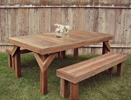 nothing says summer like a cook out eaten at a picnic table these