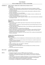 Download Laboratory Operations Resume Sample As Image File