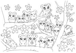 All Hamsters On A Tree Coloring Page