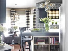Countertops Backsplash Fabulous Bay Windows With Black And White Striped Curtain For Cool Traditional Kitchen