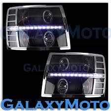 100 Chevy Silverado Truck Parts 0713 15002500HD Chrome Headlight TrimSuper White