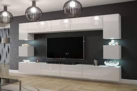 furnitech modernes tv möbel mit led beleuchtung schrank wohnschrank wohnzimmer schrankwand wohnwand mediawand nowara 1c an1 17w hg21 1c möbel ohne