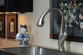 Brizo Kitchen Faucet Leaking by Single Handle Pull Down Kitchen Faucet 63052lf Ss Belo