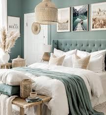 schlafzimmer wandbilder strandbilder blaues schlafzimmer eichenrahmen