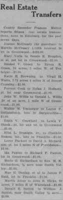 100 Richard Paxton Ida Bell Transfer Of Real Estate To F Newspaperscom
