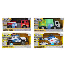 100 Tonka Motorized Garbage Truck Rescue Force Light And Sound Vehicle Assorted Target Australia