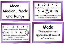 mode median and range mode median and range posters ebay