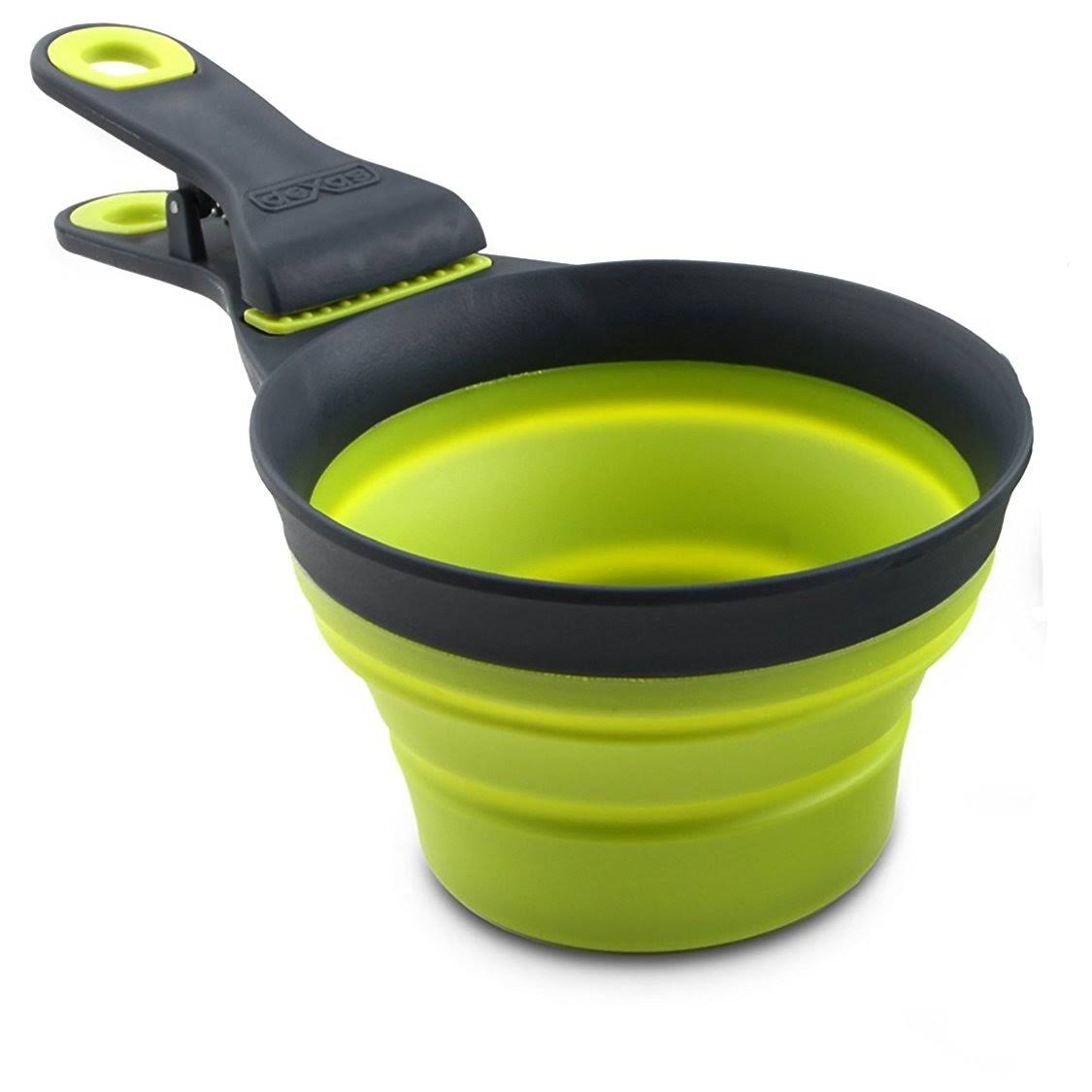 Dexas Popware for Pets Collapsible KlipScoop Pet Food Scoop - Gray/Green