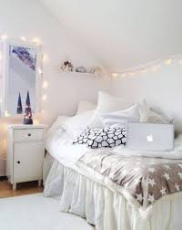 Bedroom Decor Decorations White Inspirations With String Lights For Images Storage
