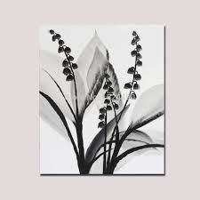 100 Hand Painted Modern Black White Flower Oil Painting On Canvas Wall Art Picture For Home Hotel Decor In Calligraphy From Garden