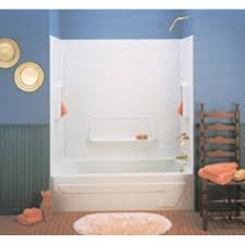 Bathroom Inserts Home Depot by Bathroom Trendy One Piece Fiberglass Tub Shower Enclosures 19