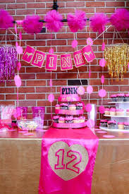 Pink White And Gold Birthday Decorations by Best 25 Pink Birthday Parties Ideas On Pinterest Bday