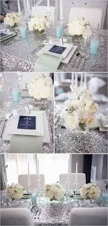 Romantic Winter Wedding Colors Blue Shades Silver