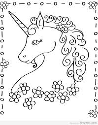 Unicorn Printable Coloring Page