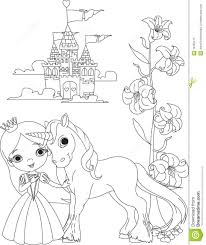 Royalty Free Stock Photo Download Beautiful Princess And Unicorn Coloring Page