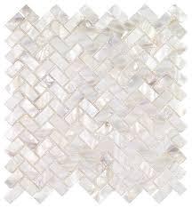oyster white pearl tile herringbone sle style