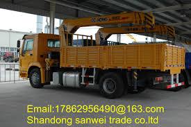100 Truck Mounted Boom Lift Sinotruk HOWO 4x2 5 Ton Crane Telescopic