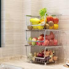 multi schicht boden obst gemüse lagerung korb haushalt edelstahl bad schlafzimmer spielzeug lagerung rack küche veranstalter
