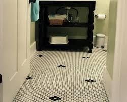 Bathroom Floor Tile Ideas Retro by Retro Black White Bathroom Floor Tile Ideas And Pictures