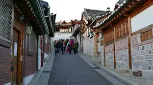 100 South Korea Houses Bukchon Hanok Village A N Traditional Village In Seoul Asia Tourists And People Visiting The N Traditional Houses Hanok