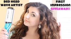 Bed Head Curlipop by Bed Head Wave Artist First Impression U0026 Giveaway Youtube