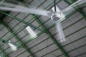 big industrial ceiling fans for warehouse storage or commercial