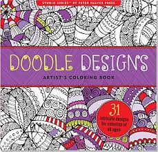 Doodle Designs Adult Coloring Book 31 Stress Relieving Studio