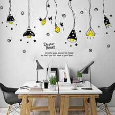 Retro Chandelier Childrens Stylish Bedroom Living Room Background Self Adhesive Sticker Mural Wall Stickers For Kids Rooms