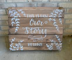 Rustic Wedding Sign Hand Lettering