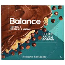 Balance Bar Nutrition Cookie Dough 6 Bars 176 Oz 50