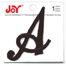 Shop for the Joy Monogram Black Iron Embroidery Letter