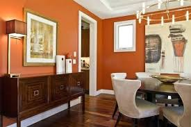 Paint Colors For Dining Room Orange Wall Contemporary