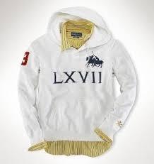 Discontinued Ralph Lauren Bedding by Ralph Lauren Fleece 1967 Hoodie In White Ralph Lauren Polo Shirt