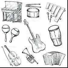 Coloring Pages Free Printable Musical Instrument Indian Instruments Page Handy Music