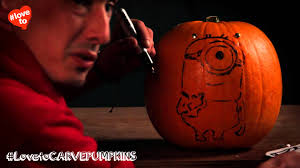 Minion Pumpkin Carvings by How To Carve A Cool Minion Pumpkin Youtube