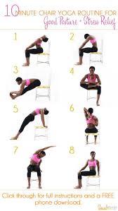 Best 25 Chair Yoga Ideas On Pinterest