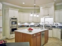 Stain Kitchen Cabinets White Cabinet Ideas With Mosaic Tiles L