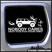 Nobody Cares About Your Stick Figure Family Sticker For Jeep ... Nobody Cares About Your Stick Figure Family For Jeep Wrangler Free Shipping Bitch Inside Bad Mood Graphic Funny Car Sticker For Stickers Fun Decals Cars Best Paper Printer Tags Matte Truck Personality Warning Boobies Make Me Smile Own At Home Fridge Ideas On Pinterest Bessky 3d Peep Frog Window Decal Graphics Back Off Bumper Humper Tailgate Vinyl Creative Mum Baby Board Waterproof My Guns Auto Prompt Eyes