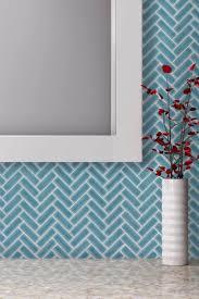 mto0254 klassische fischgrät blau porzellan mosaik fliesen