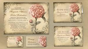 Read More GORGEOUS PINK PEONY BLOOSOM VINTAGE WEDDING INVITATION