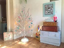 Mid Century Aluminum Christmas Tree With Color Wheel Turner