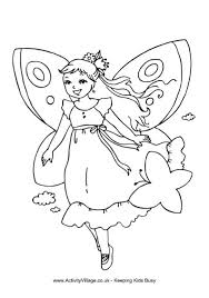Fairy Colouring Page 2