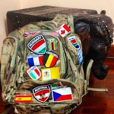 Backpack With Flag Patches