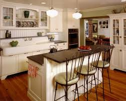 Vintage Country Cottage Kitchen Smooth Cooktopspull Out Faucet Cool Wooden Shelves Attaced Double Metal Sink U