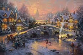 Thomas Kinkade Christmas Tree Cottage by Christmas