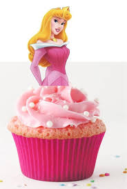 Your Cupcake Is Her Dress Sleeping Beauty Aurora Toppers Princess Birthday Party Decorations Set Of 12