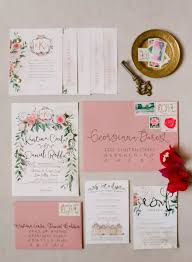 Blush Pink Spring Wedding Invitations Rustic Chic Shade Of