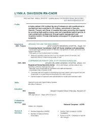Registered Nurse Sample Resume New Grad Nursing